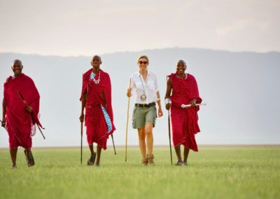 Walking with Maasai Warriors