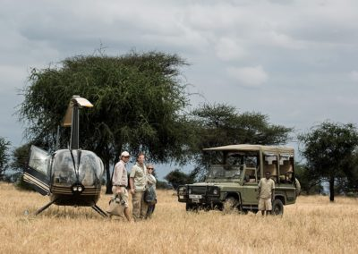 Helicopter Transfers on Safari with BJORN AFRIKA ©