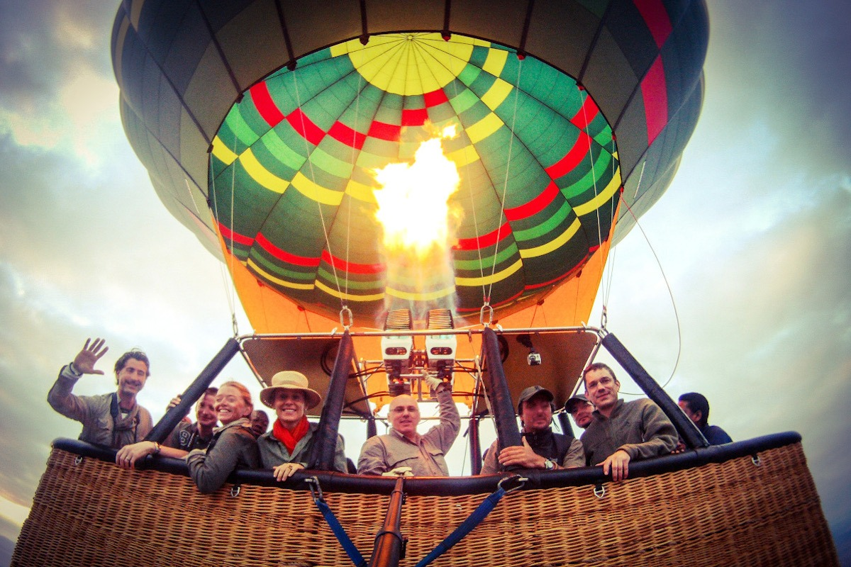 My Safari began one chilly winter morning in Germany - Ballooning over Tarangire Natioanl Park