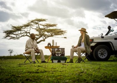 Picnic Lunch and Coffee Break on Safari with BJORN AFRIKA at Kichakani