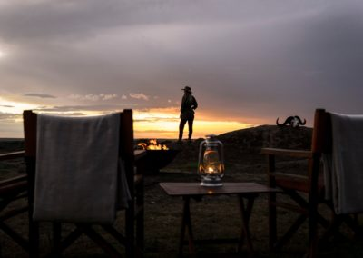 Sundowners in the Serengeti on Safari with BJORN AFRIKA at Kusini