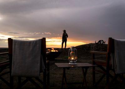 Sundowners in the Serengeti on Safari with BJORN AFRIKA at Kusini