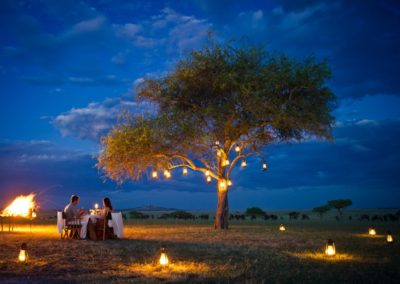 Bush Dinner at Singita Sabora on Safari with BJORN AFRIKA