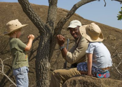 Children on Safari with BJORN AFRIKA at Mkombe's House